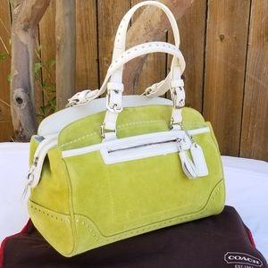Super cute Coach suede handbag